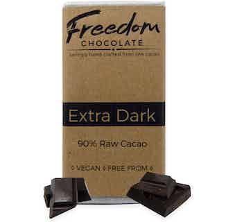 Extra Dark | Organic Vegan Chocolate | 30G from Freedom Chocolate in Bars, Chocolate