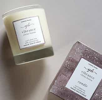 Vibrance | Soy & Rapeseed Natural Wick Candle | Citrus | 30cl from Yummy Home in Lighting & Candles, Homeware