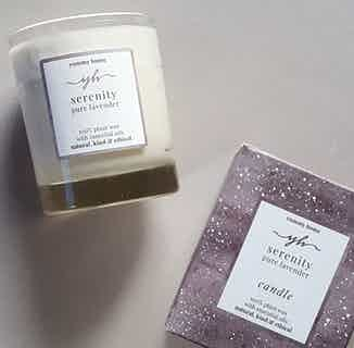 Serenity | Soy & Rapeseed Natural Wick Candle | Pure Lavender | 30cl from Yummy Home in Lighting & Candles, Homeware