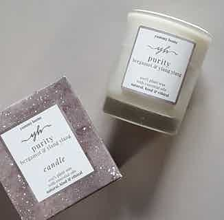 Purity | Soy & Rapeseed Natural Wick Candle | Bergamot & Ylang Ylang | 20cl from Yummy Home in Lighting & Candles, Homeware