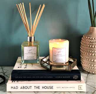 Purity | Natural Soy Candle & Essential Oil Reed Diffuser | Bergamot & Ylang Ylang from Yummy Home in Lighting & Candles, Homeware