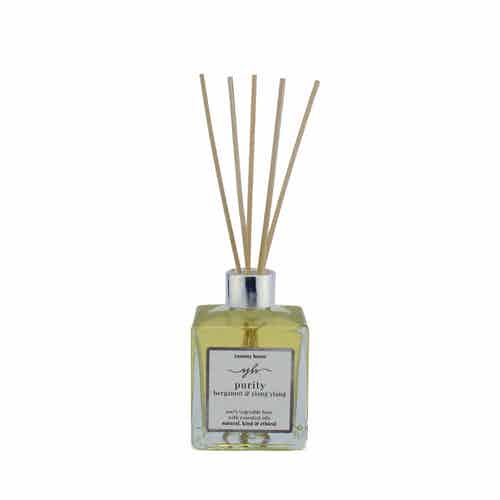 Purity   Natural Essential Oil Reed Diffuser   Bergamot & Ylang Ylang   200ml from Yummy Home in Scents & Fragrance, Homeware