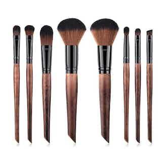 Full Vegan Makeup Brush Set- Sustainable Wood and Black from Hurtig Lane in Brushes & Tools, Makeup & Cosmetics