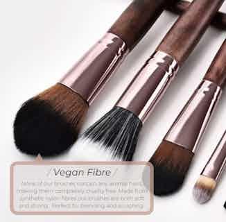 2 Piece Eyeshadow Vegan Makeup Brush Set- Sustainable Wood and Rose Gold from Hurtig Lane in Brushes & Tools, Makeup & Cosmetics