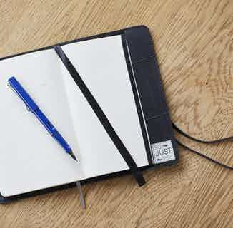 Sustainable Recycled Tyre Lined Notebook   Black from So Just Shop in Stationery, Sustainable Homeware & Leisure