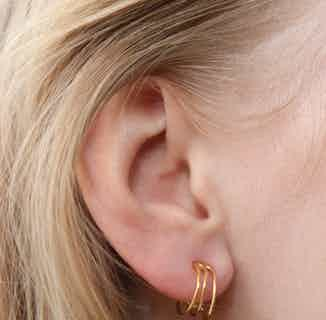 Rekha Wrap Earrings - Gold from So Just Shop in Jewellery, Women's Sustainable Clothing