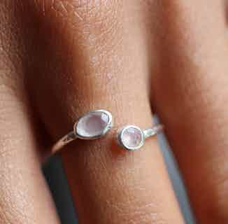 Pooja   Sustainably Sourced Open Jewelled Ring   Silver from So Just Shop in Jewellery, Women's Sustainable Clothing