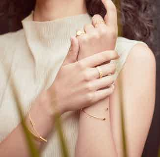 Praniti   Sustainably Sourced Double Layer Ring   Gold from So Just Shop in Jewellery, Women's Sustainable Clothing