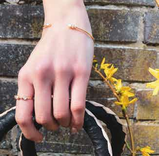 Aahna   Sustainably Sourced Jewelled Ring   Gold from So Just Shop in Jewellery, Women's Sustainable Clothing