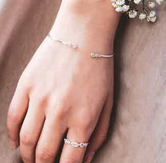 Pari   Sustainably Sourced Bangle Jewelled Bracelet   Silver from So Just Shop in Jewellery, Women's Sustainable Clothing