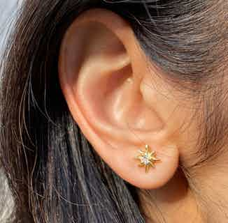 Sustainably Sourced Star Studded Earrings | Gold from So Just Shop in Jewellery, Women's Sustainable Clothing