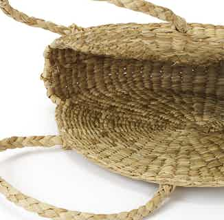Sustainable Palm Leaves Shoulder Bag Shopper | Beige from So Just Shop in Totes Shoppers, Bags