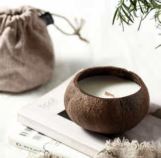 Handmade Soy Coconut Shell Candle- Toasted Coconut from Clean U Skincare in Gift Sets, Sustainable Beauty & Health