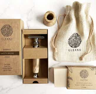 Bamboo Safety Razor Gift Set from Clean U Skincare in Gift Sets, Sustainable Beauty & Health
