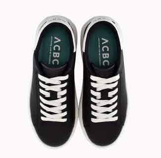 BioMilan   Corn Based Vegan Leather Trainers   Black from ACBC in Trainers, Footwear