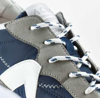 GreenTrek   Recycled Plastic Vegan Trainers   Blue & White from ACBC in Trainers, Footwear