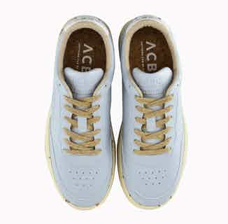Evergreen | Corn Based Vegan Leather and Organic Cotton Trainers | Light Blue from ACBC in Trainers, Footwear