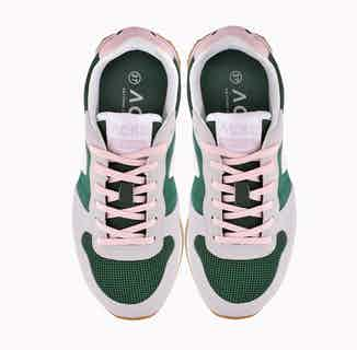 RecycleOne | Recycled Plastic Vegan Trainers | Green & Rose from ACBC in Trainers, Footwear