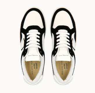 Philippe Model Lyon | Organic Cotton Vegan Trainers | White & Black from ACBC in Trainers, Footwear