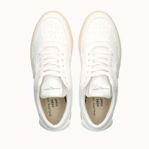 Philippe Model Lyon | Corn Based Vegan Leather Trainers  | White from ACBC in Trainers, Footwear