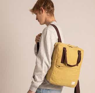 Gokyo Backpack Mustard from Hemper Handmade in Backpacks, Bags