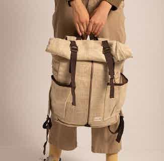 Nuptse Backpack 100% Hemp Natural from Hemper Handmade in Backpacks & Rucksacks, Bags