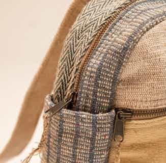 Mini Yala Backpack Blue and Natural from Hemper Handmade in Backpacks, Bags