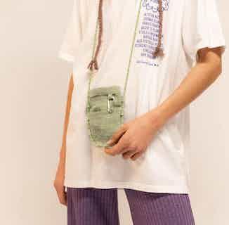Kamala Phone Pouch 100% Hemp Pistacchio Green from Hemper Handmade in Bum Bag, Bags