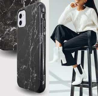Eco Friendly Printed Marble Phone Case | iPhone 11 | Black from Uunique London in Phone Cases, Electronics