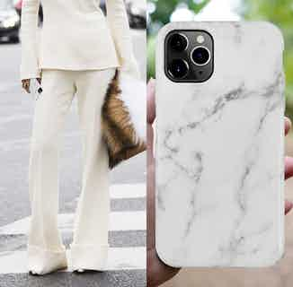 Eco Friendly Printed Marble Phone Case | iPhone 11 Pro | White from Uunique London in Phone Cases, Electronics