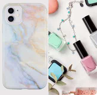 Eco Friendly Printed Marble Phone Case | iPhone 11 | White from Uunique London in Phone Cases, Electronics