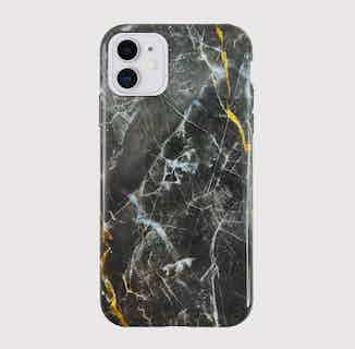 Eco Friendly Printed Marble Phone Case   iPhone 11   Black from Uunique London in Phone Cases, Electronics