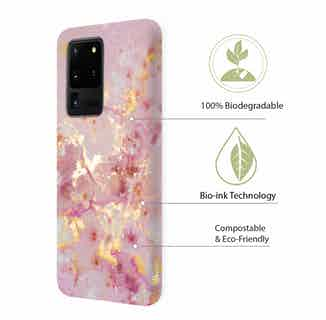 Eco Friendly Printed Marble Phone Case   Samsung Galaxy S20 Ultra   Pink from Uunique London in Phone Cases, Electronics