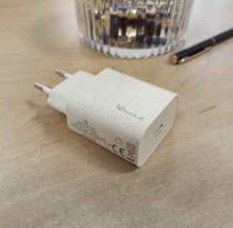 Eco Friendly Mains Charger | 20w PD EU from Uunique London in Electronics, Sustainable Homeware & Leisure