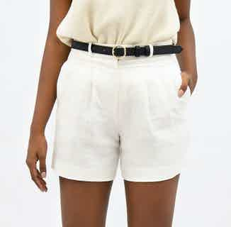 French Riviera | Linen Mom Shorts | Porcelain White from 1 People in Women's Sustainable Clothing,