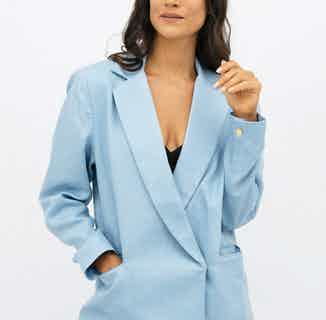 Havana | Linen Oversized Blazer | Sommerhus Blue from 1 People in Women's Sustainable Clothing,