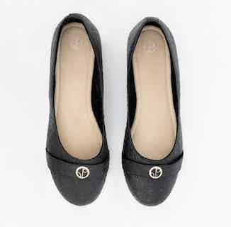 Cape Town | Piñatex® Ballerina Shoe | Charcoal from 1 People in Women's Sustainable Clothing,