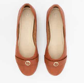 Cape Town | Piñatex® Ballerina Flat Shoes | Canela Tan from 1 People in Women's Sustainable Clothing,