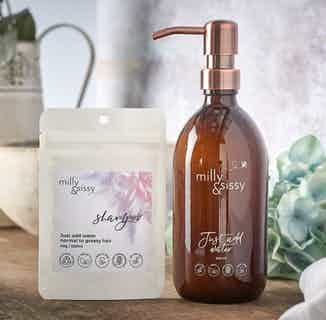 Zero Waste Natural Shampoo Suitable for Normal or Greasy Hair Refill   40g/500ml from Milly & Sissy in Sustainable Beauty & Health,
