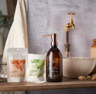 Zero Waste Natural Hair & Body Wash Set | Candied Tangerine & Zesty Lime from Milly & Sissy in Sustainable Beauty & Health,
