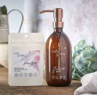 Zero Waste Shampoo For Fine & Dry Hair   40g/500ml Refill from Milly & Sissy in Sustainable Beauty & Health,