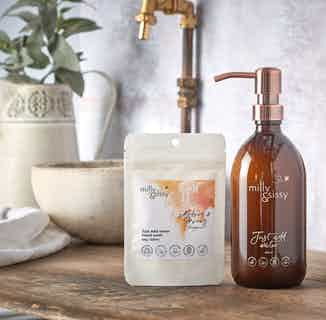 Zero Waste Natural Hand Wash Refill   Honey and Almond   40g/500ml from Milly & Sissy in Sustainable Beauty & Health,
