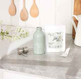 Re-usable & Re-fillable Aluminium Bottle For Life | Sage green | 250ml from Milly & Sissy in Sustainable Beauty & Health,