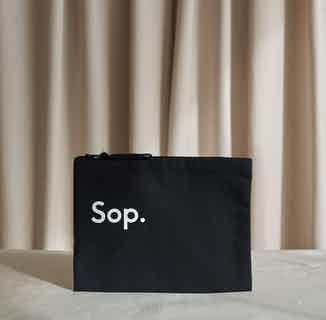 Sop Travel & Make Up   Recycled Cotton Cosmetic Bag   Black from Sop in Cosmetics Bag, Makeup & Cosmetics