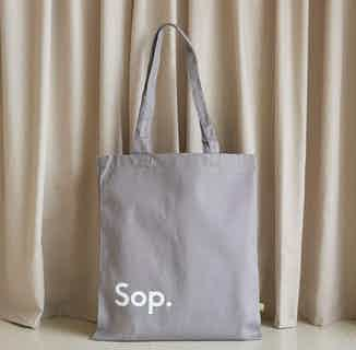 Sop Tote | Organic Cotton Bag | Grey-Blue from Sop in Totes Shoppers, Bags