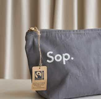 Sop Wash | Organic Cotton Wash Bag | Grey-Blue from Sop in Wash Bags, Travel Essentials & Storage