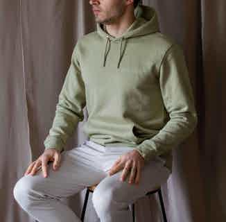 GOTS Organic Cotton Logo Unisex Hoodie | Sage Green from Morcant in Hoodies, Tops