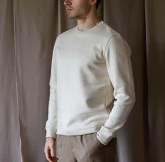 GOTS Organic Cotton Unisex Crewneck Sweater | Natural Beige from Morcant in Women's Sustainable Clothing,