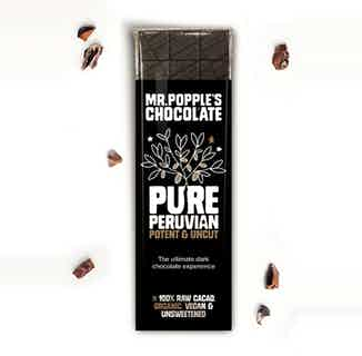 PURE PERUVIAN - 100% Criolla Cacao Raw Chocolate Bar - 35g from Mr Popple's Chocolate