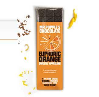 EUPHORIC ORANGE - Organic Orange Chocolate -  35g from Mr Popple's Chocolate